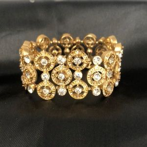 Beautiful Gold with Crystal Bracelet